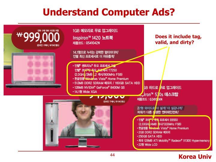 Understand Computer Ads?