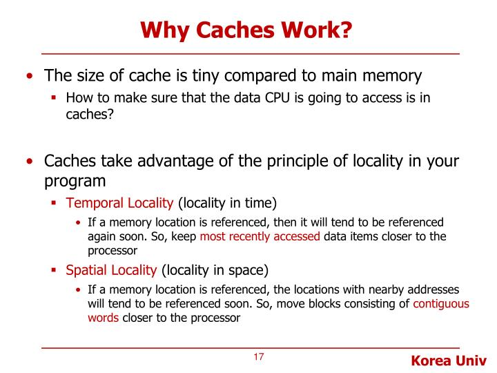 Why Caches Work?