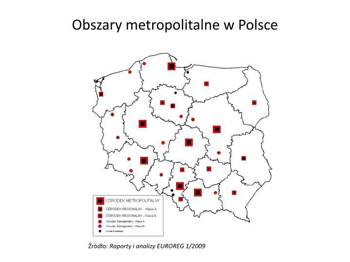 Obszary metropolitalne w Polsce