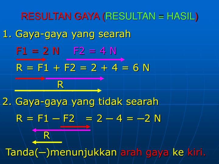 RESULTAN GAYA (