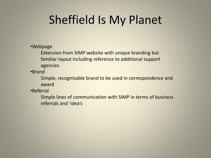 Sheffield Is My Planet