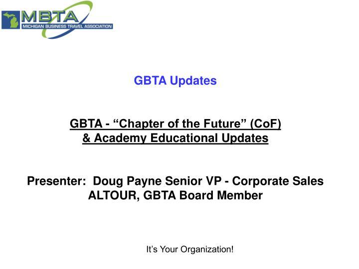 GBTA Updates