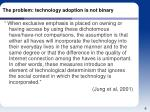the problem technology adoption is not binary