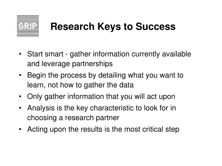 Research Keys to Success