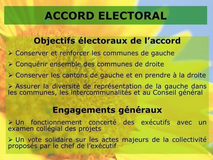 ACCORD ELECTORAL