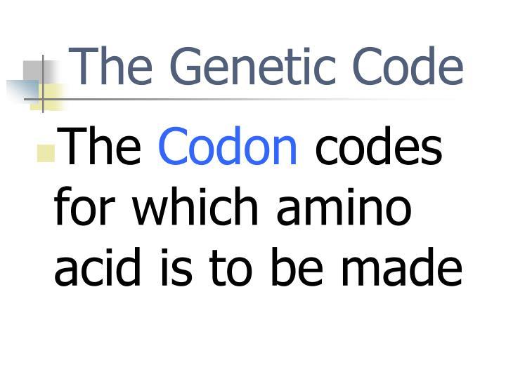 The Genetic Code