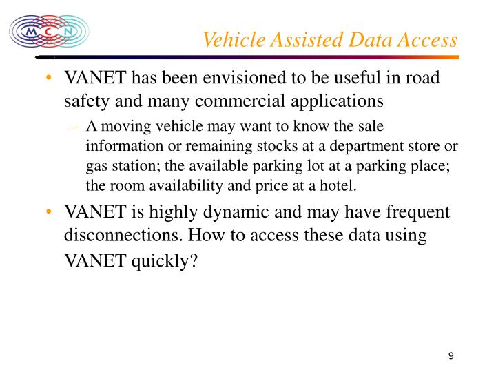 Vehicle Assisted Data Access