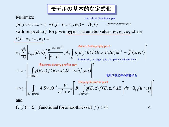 モデルの基本的な定式化
