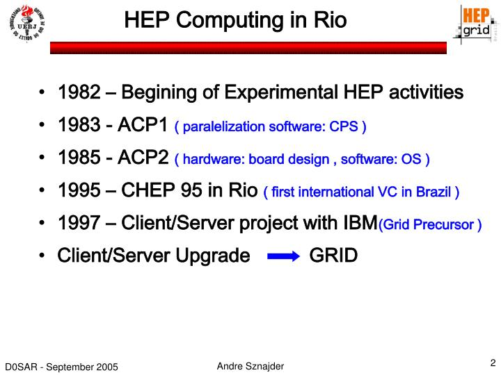 HEP Computing in Rio