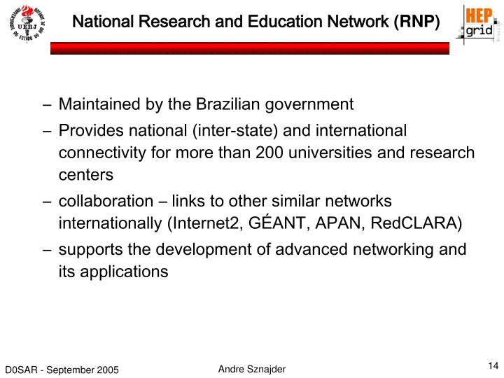 National Research and Education Network
