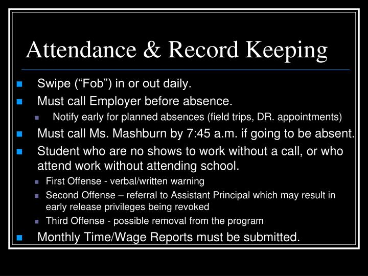Attendance & Record Keeping