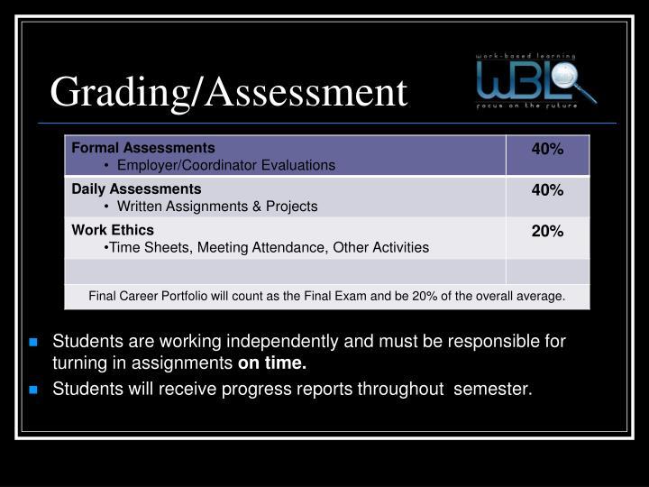 Grading/Assessment