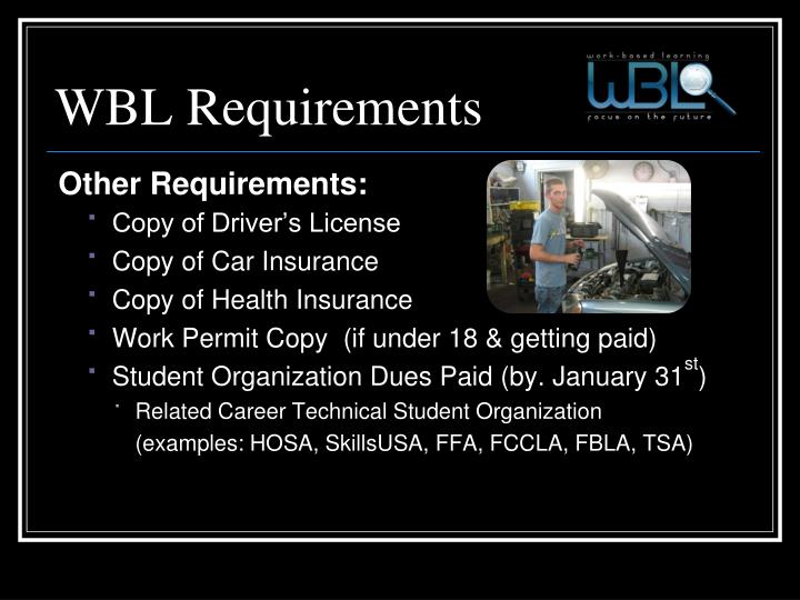 WBL Requirements