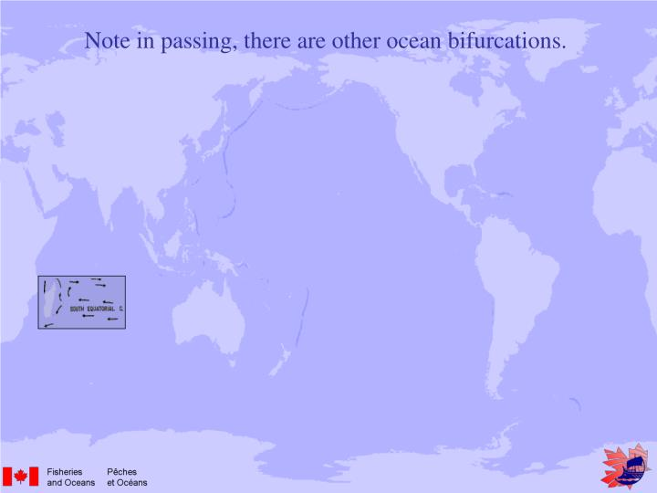 Note in passing, there are other ocean bifurcations.