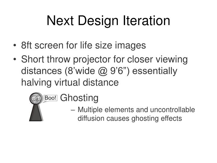 Next Design Iteration