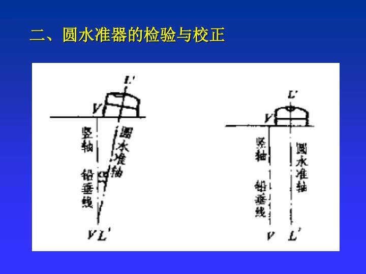 二、圆水准器的检验与校正