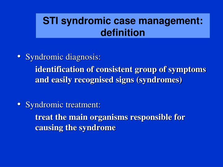 syndrome sti management