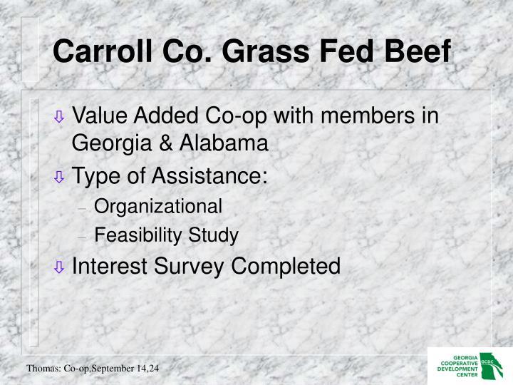 Carroll Co. Grass Fed Beef