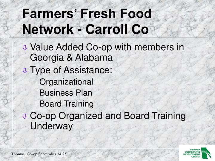 Farmers' Fresh Food Network - Carroll Co