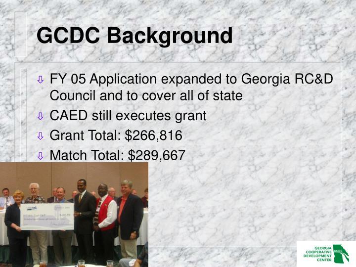 GCDC Background