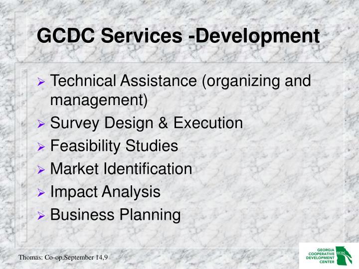 GCDC Services -Development
