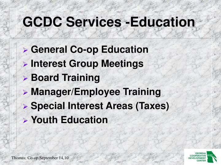GCDC Services -Education