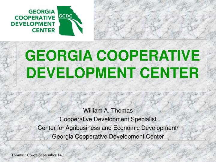 Georgia cooperative development center