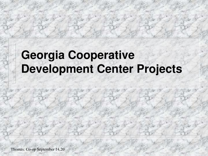 Georgia Cooperative Development Center Projects