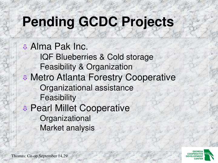 Pending GCDC Projects