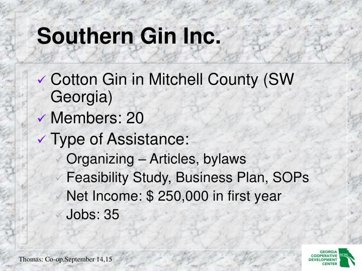 Southern Gin Inc.