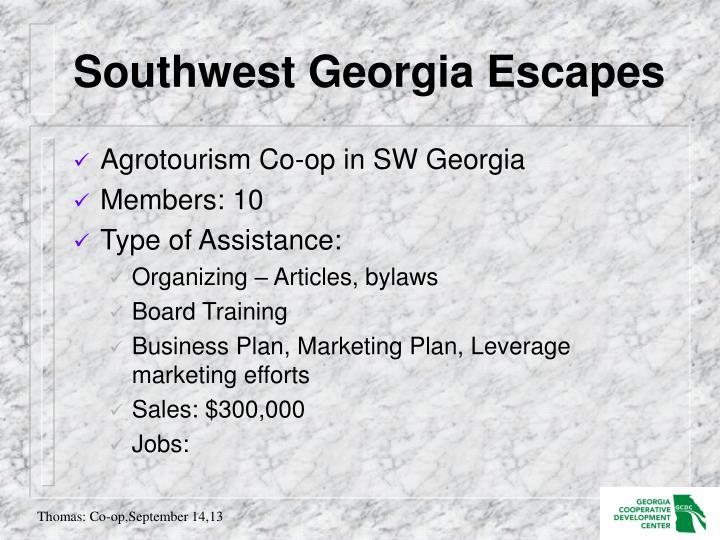 Southwest Georgia Escapes