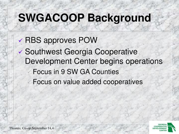 SWGACOOP Background