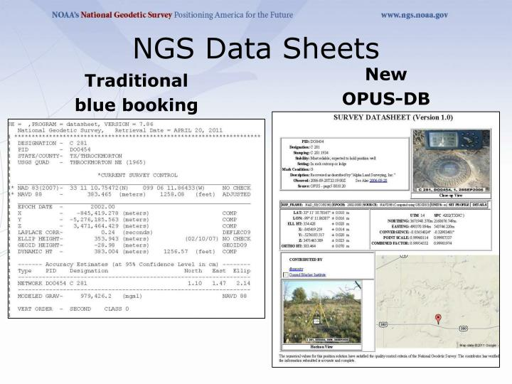 NGS Data Sheets