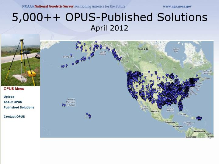 5,000++ OPUS-Published Solutions