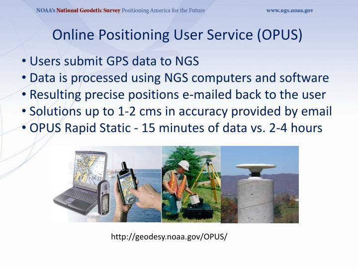 Online Positioning User Service (OPUS)
