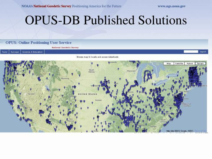 OPUS-DB Published Solutions