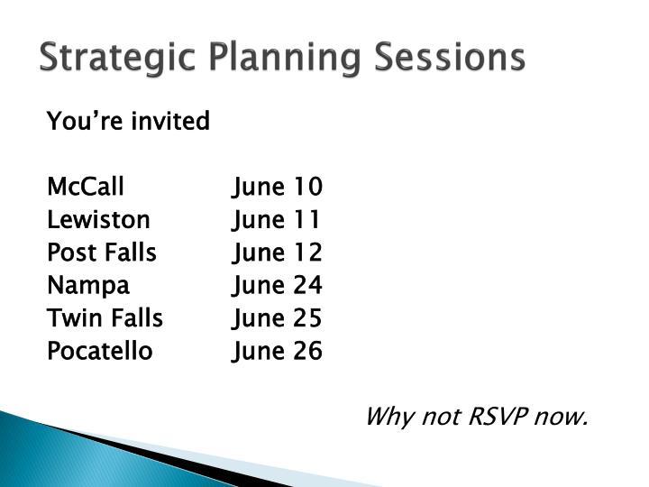 Strategic Planning Sessions