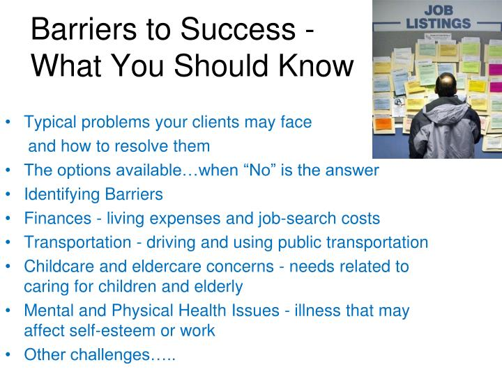 Barriers to Success -What You Should Know