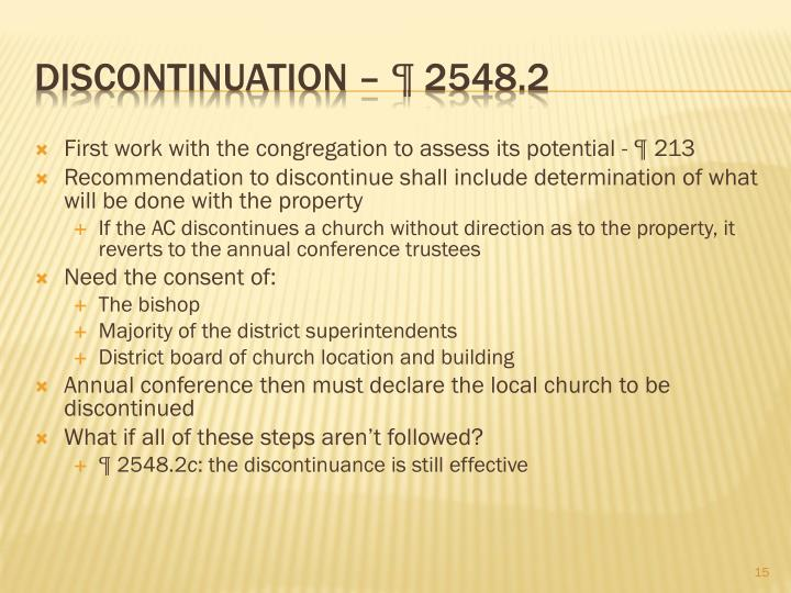 First work with the congregation to assess its potential - ¶ 213