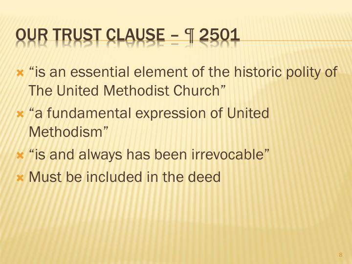 """is an essential element of the historic polity of The United Methodist Church"""