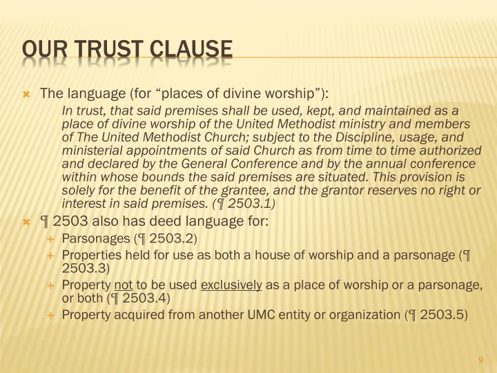 "The language (for ""places of divine worship""):"