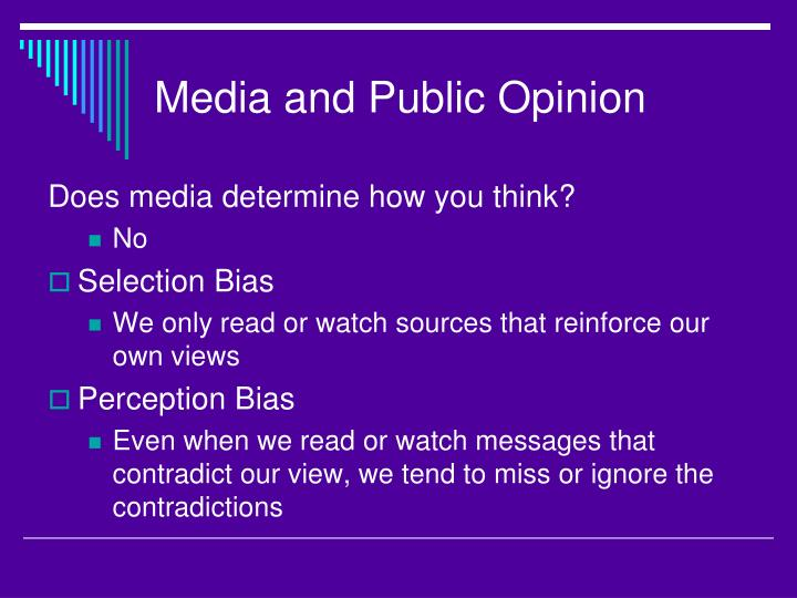 Media and Public Opinion