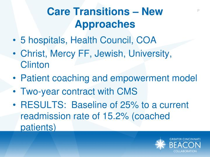 Care Transitions – New Approaches