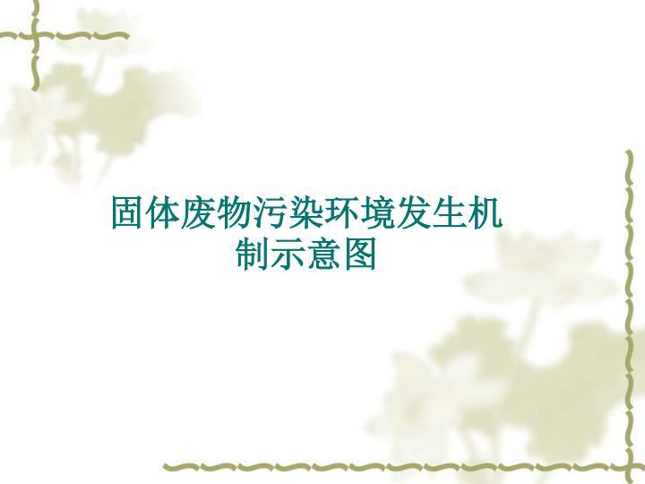 固体废物污染环境发生机制示意图