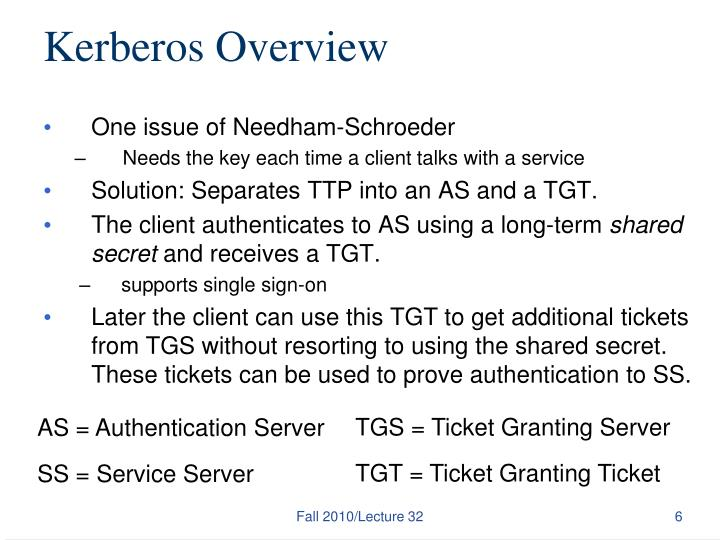 Kerberos Overview