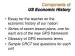 components of us economic history