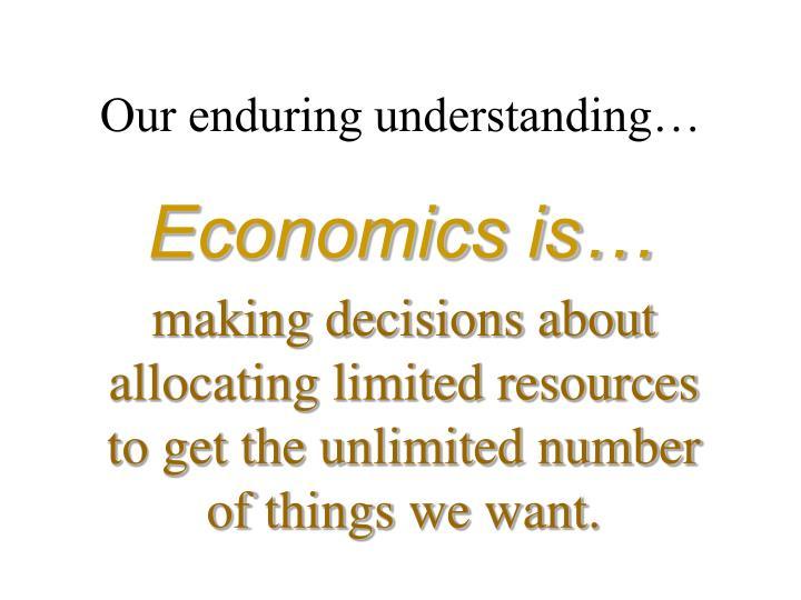 Economics is…