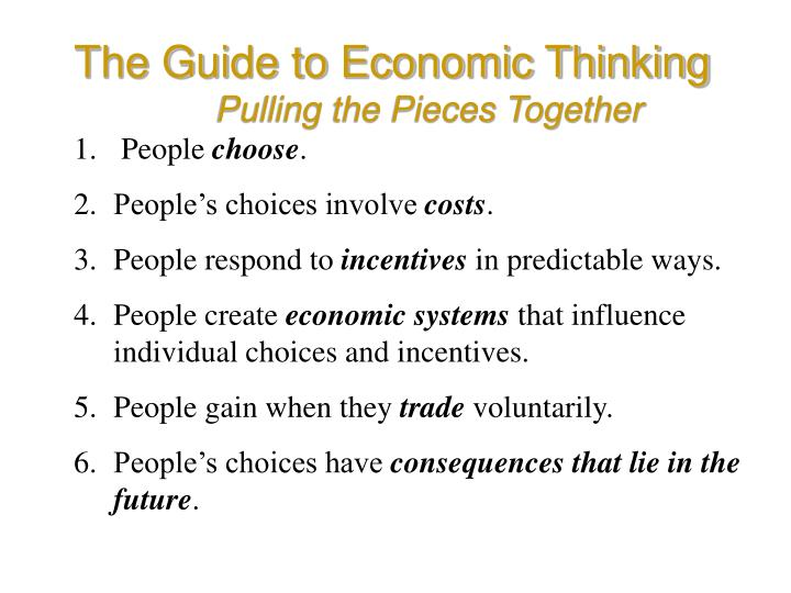 The Guide to Economic Thinking