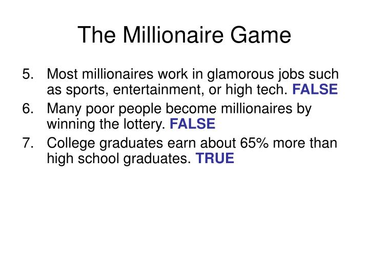 The Millionaire Game