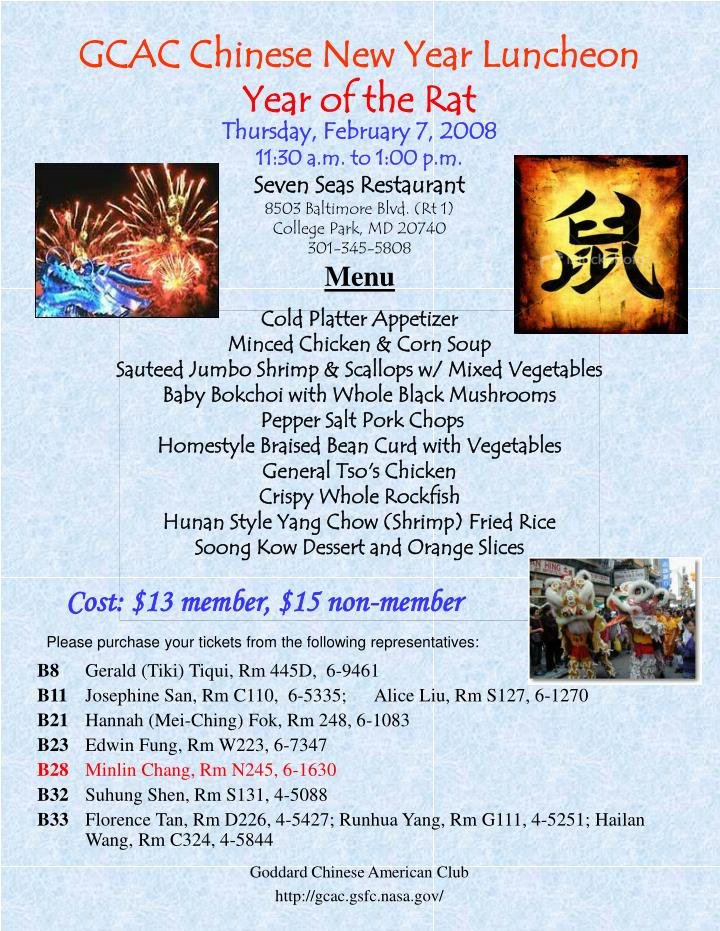 GCAC Chinese New Year Luncheon